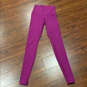 Lululemon hi rise / foldover wunder  leggings SZ 2